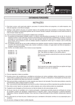 EXTENSIVO/TERCEIRÃO INSTRUÇÕES