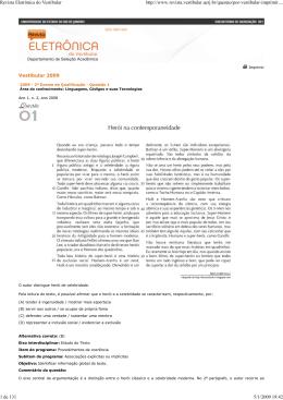 1º e 2º Exame de Qualificação Vestibular UERJ 2009