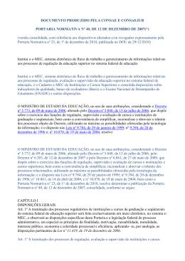Portaria Normativa Nº. 40, de 12/12/2007