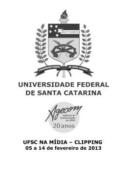 UFSC NA MÍDIA – CLIPPING