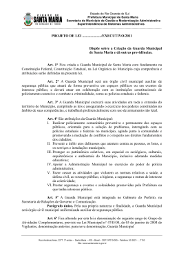 Projeto Guarda Municipal - Prefeitura Municipal de Santa Maria