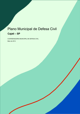 Plano Municipal de Defesa Civil - Cajati-SP