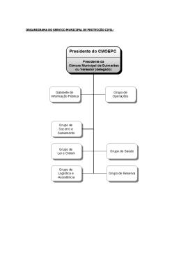ORGANIGRAMA DO SERVIÇO MUNICIPAL DE PROTECÇÃO CIVIL: