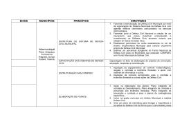 Princípios e Diretrizes dos municipios