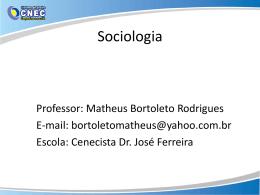 Revisão dos clássicos da sociologia.