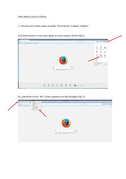 """1 – No menu do Firefox, clique na opção """"Ferramentas"""" e depois"""