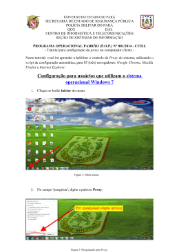 Tutorial para configuração do proxy no computador cliente