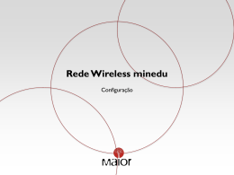 Configurar a Rede Wireless Minedu