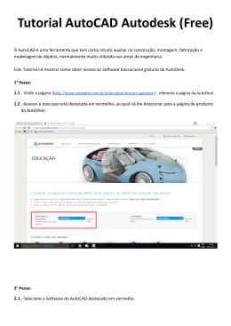 Parceria Autodesk (Licença AutoCAD para educação)