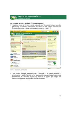 6.2 Consultar SERVIDORES por Órgão de Exercício 1) Na página