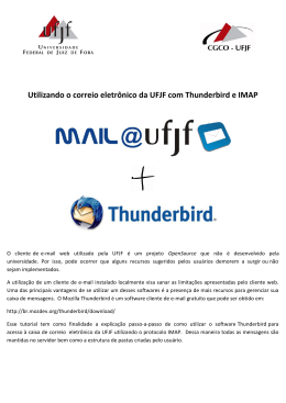 Manual de configuração do Webmail no Thunderbird