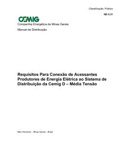 ND. 5.31 - Requisitos para a conexão de Acessantes