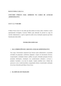 BANCO NOSSA CAIXA S.A CONCURSO