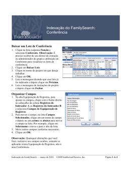 Indexação do FamilySearch: Conferência