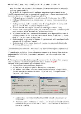 INSTRUCIONAL PARA ATUAL SINASC 2.2