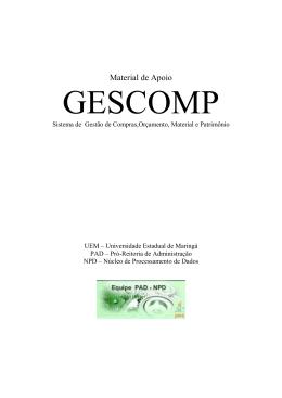 Manual de Utilização do GESCOMP