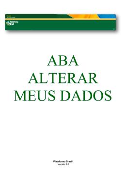 ALTERAR MEUS DADOS