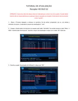 Tutorial De Atualização Hd Duo S2 em pdf