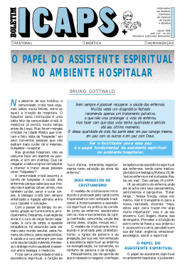 o papel do assistente espiritual no ambiente hospitalar