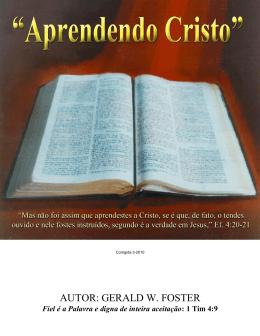 Aprendendo Cristo - palavraeespirito.com