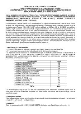 Edital 001/2008 - Nível Superior - Oficiais