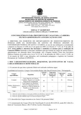 Edital nº 142/DDP/2015 - Ed. 142/DDP/2015