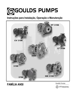 FAMÍLIA ANSI - Goulds Pumps