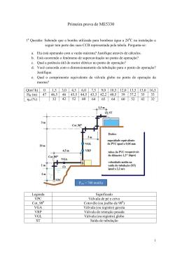 Primeira prova de ME5330