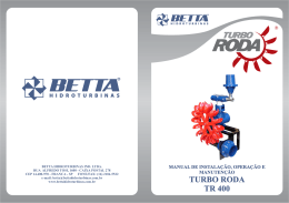 manual tr400.cdr - BETTA HIDROTURBINAS