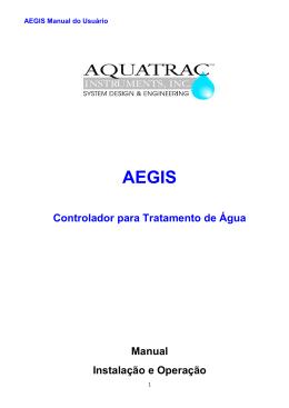 Controlador para Tratamento de Água Manual Instalação