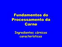 Fundamentos do processamento da carne