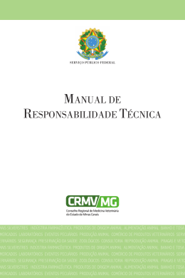 do Manual em PDF - CRMV-MG