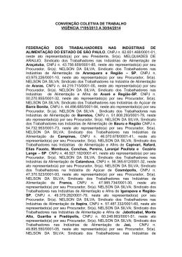 CONVENÇÃO COLETIVA DE TRABALHO VIGÊNCIA 1º/05/2013 A