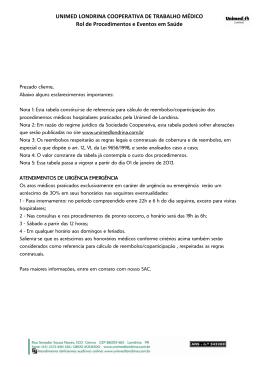 tabela - Unimed Londrina