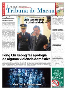 Fong Chi Keong faz apologia de alguma violência doméstica