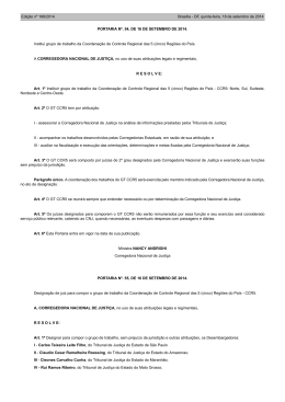 Corregedora Nacional de Justiça PORTARIA Nº. 55, DE 16 DE