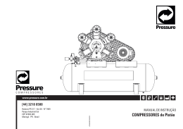 Manual - Pressure Compressores