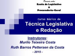 Curso de Redação e Técnica Legislativa - 2o dia