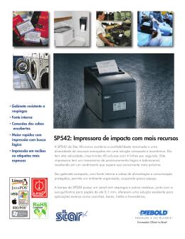SP542: Impressora de impacto com mais recursos