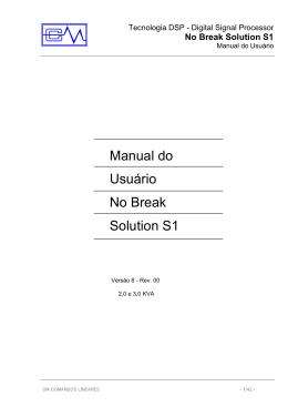 Manual do Usuário Solution S1_ 2,0 a 3,0Kva - Rev 1