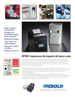 SP500: Impressora de impacto de baixo custo