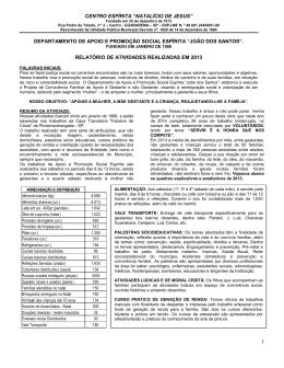 "CENTRO ESPÍRITA ""NATALÍCIO DE JESUS"""