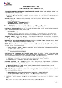 ENSINO MÉDIO –1a SÉRIE – 2001