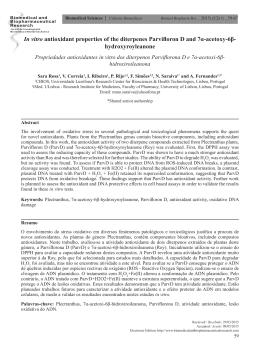 In vitro antioxidant properties of the diterpenes Parvifloron D and 7α