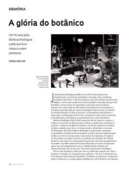 a glória do botânico - Revista Pesquisa FAPESP