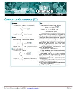 COMPOSTOS OXIGENADOS (II) - Portal de Estudos em Química