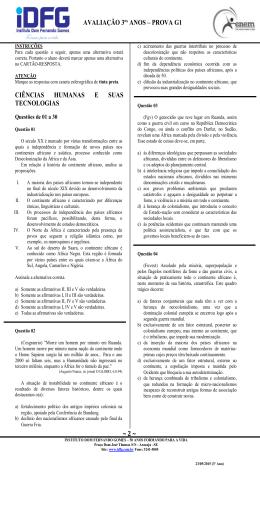 2 Prova G1 - Instituto Dom Fernando Gomes
