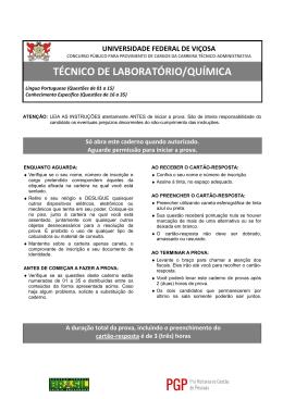 TÉCNICO DE LABORATÓRIO/QUÍMICA