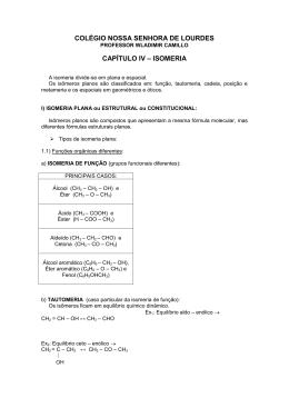CAPÍTULO IV – ISOMERIA - Colégio Nossa Senhora de Lourdes