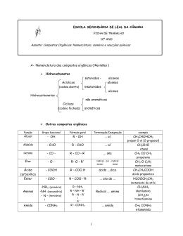 Nomenclatura e Isomeria